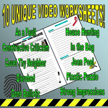 Forensic Files : Bundle Package 6 (10 video worksheets and more)