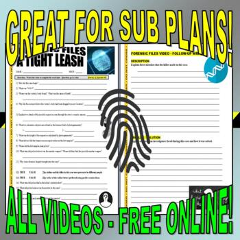 Forensic Files : Bundle Set #26 (10 video worksheets / write prompts / no prep)