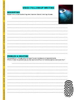 Forensic Files : Burning Ambition (video worksheet)