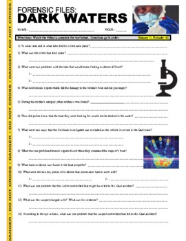 Forensic Files : Dark Waters (video worksheet)