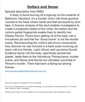 Forensic Files Dollars and Sense