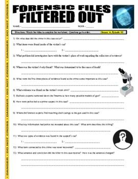 Forensic Files : Filtered Out (video worksheet)