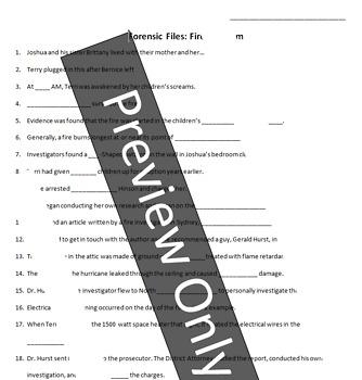 "Forensic Files ""Fire Dot Com"" Video Worksheet"
