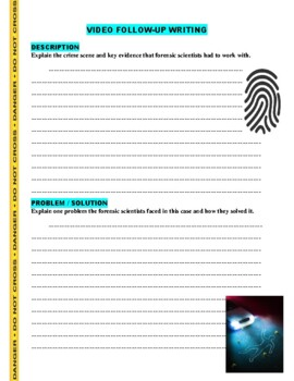 Forensic Files : Frozen Evidence (video worksheet)