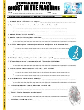 Forensic Files : Ghost in the Machine (video worksheet)