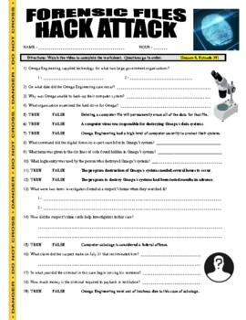 Forensic Files : Hack Attack (science video worksheet)