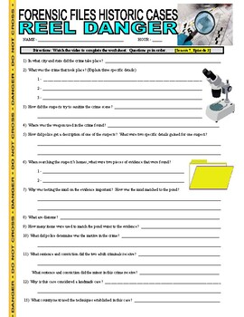 Forensic Files Historic Cases V2 (2 Video Worksheets)