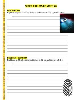 Forensic Files : Home Evasion (video worksheet)