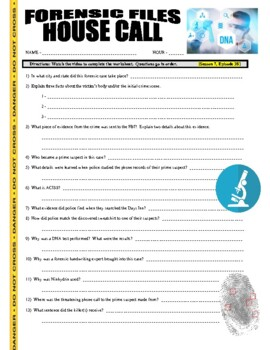 Forensic Files : House Call (video worksheet)