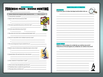 Forensic Files : House Hunting (video worksheet)