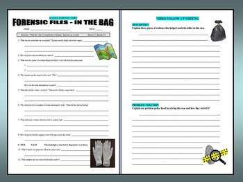 Forensic Files : In the Bag (video worksheet)