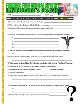 Forensic Files Medical Mysteries V6 (2 Video Worksheets)