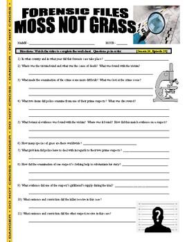 Forensic Files : Moss Not Grass (video worksheet)