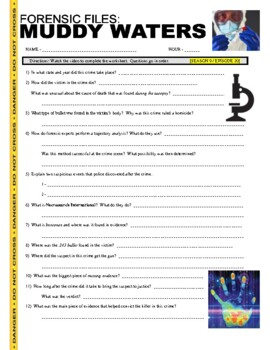 Forensic Files : Muddy Waters (video worksheet)