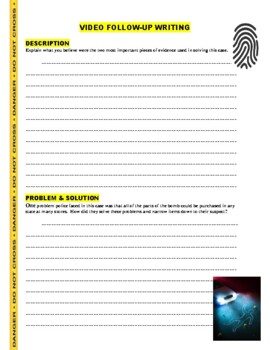 Forensic Files : Over and Out (science / crime / law video worksheet)