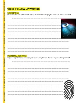 Forensic Files Palm Saturday Science Video Worksheet