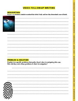 Forensic Files : Partners in Crime (video worksheet)