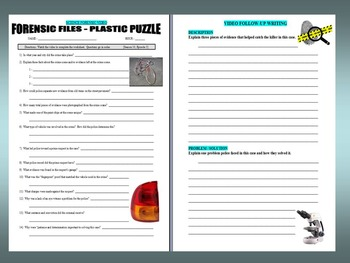 Forensic Files : Plastic Puzzle (video worksheets)
