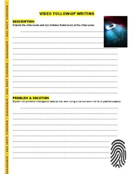 Forensic Files : Pressed for Crime (video worksheet)