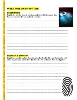 Forensic Files : Prints Among Thieves (video worksheet)