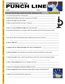 Forensic Files : Punch Line (video worksheet)