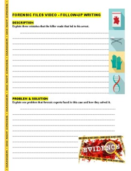 Forensic Files : Pure Evil (video worksheet)