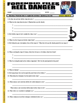 Forensic Files : Reel Danger (video worksheet)