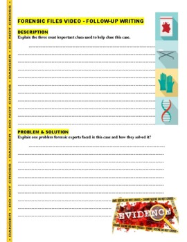 Forensic Files : Seeds for Doubt (video worksheet)