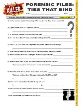 Forensic Files Serial Killers V1 - (2 video worksheets)