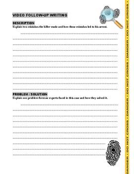 Forensic Files Serial Killers V4 - (2 video worksheets)