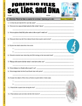 Forensic Files : Sex Lies and DNA (video worksheet)