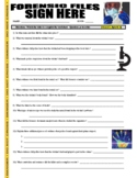 Forensic Files : Sign Here (science video worksheet / distance learning)