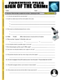 Forensic Files : Sign of the Crime (video worksheet / science / psychology)