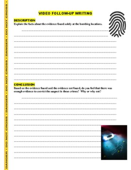 Forensic Files : Small Town Terror (video worksheet)