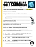 Forensic Files : Sole Searching (video worksheet / sub plans / no prep)