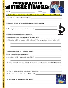 Forensic Files : Southside Strangler (video worksheet)