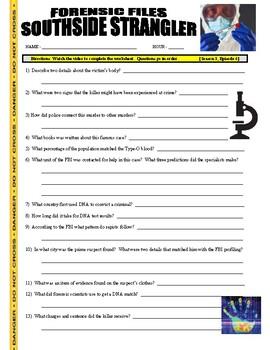 Forensic Files : Southside Strangler (video worksheet)