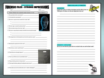 Forensic Files : Strong Impressions (video worksheet)