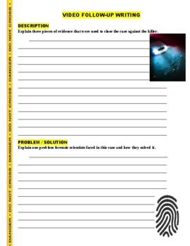 Forensic Files : Telltale Tracks (video worksheet)