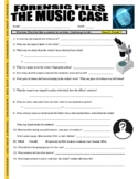 Forensic Files : The Music Case (video worksheet)
