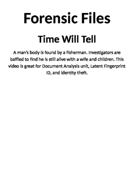 Forensic Files, Time Will Tell