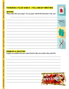 Forensic Files : Walking Terror (video worksheet)
