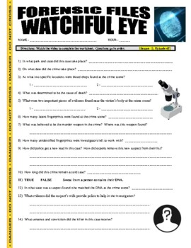 Forensic Files : Watchful Eye (video worksheet)