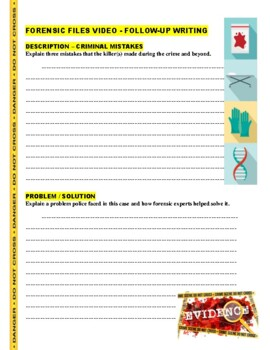 Forensic Files : Window Watcher (Video Worksheet) - Footprints and DNA