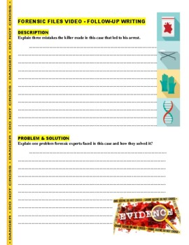 Forensic Fles : Skirting the Evidence (video worksheet)