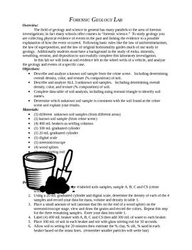 Forensic Geology Lab By Sean Obrien Teachers Pay Teachers
