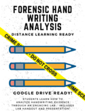 Forensic Handwriting Analysis - GOOGLE VERSION FOR DISTANCE LEARNING