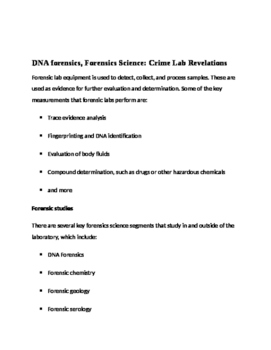 Forensic Lab Cued Retell with report form