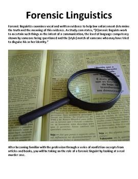 Forensic Linguistics Style Analysis Ela True Crime By John Lamb