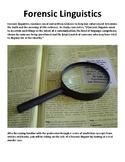 Forensic Linguistics (Style Analysis ELA)